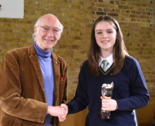 Tee House Pupil with Roger McGough