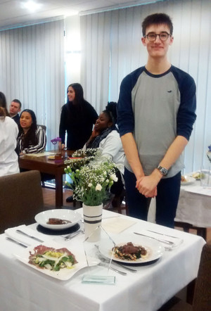 Senior School Ben R with Rotary Club District Final Meal