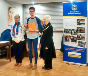 Senior School Pupil Ben Winning Rotary Club District Cooking Final