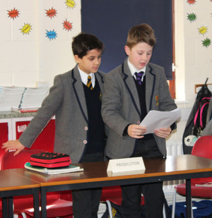 Form 2 Boys prosecutors in Prep School Magistrates Visit