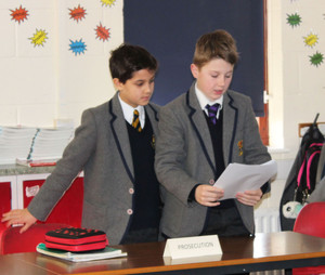 Form 2 Prep School Boys being prosecutors