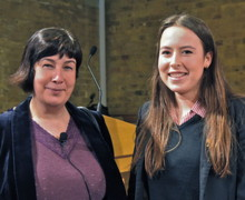 Bishop's Stortford College Sixth Form reviewer with author Joanne Harris