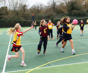 Newbury v Monk Jones in Netball House Matches