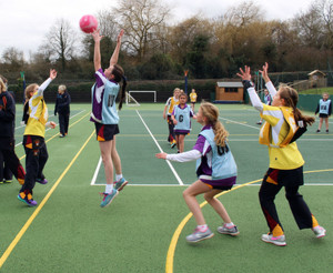 Newbury v Westfield in Prep School House Netball