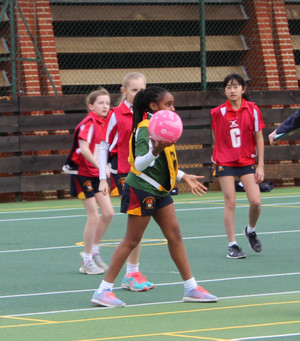 Prep School House Netball Grimwade Girl