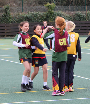 Prep School House Netball Grimwade Girls