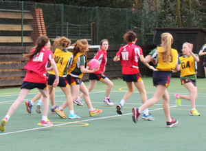 Prep School House Netball Match Grimwade v Monk Jones