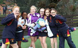 Newbury Girls at Prep School House Netball 2017