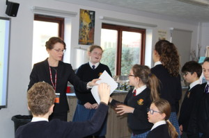 Magistrate court room role play with Prep School