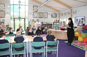 Author Kim Slater with Form 2 Pupils