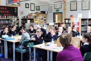 Kim Slater with L3 and U3 Prep School Book Club