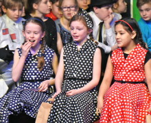 Shell Play Girls in polka dotted dresses