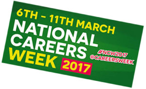 Careers week logo slanted