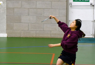 Senior School Badminton Player v Felsted