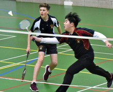 Badminton Doubles v Felsted in Senior School