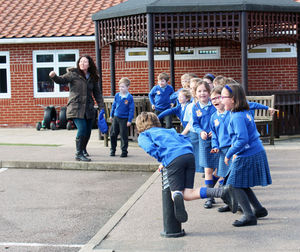 Shell Invasion Excited pre prep pupils before battle