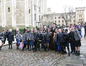 Upper Shell Pupils outside Tower of London