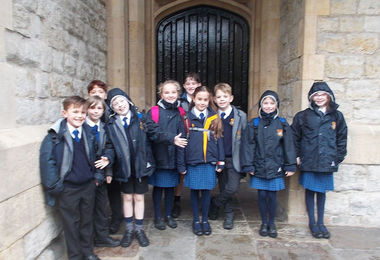 Upper Shell Pupils at Tower of London