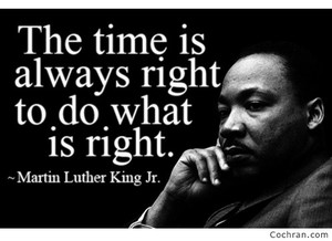 Martin Luther King quote from Madeleine Bailey Assembly