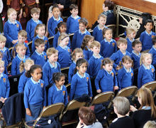 Pre-Prep School Easter Service Pupils Singing