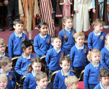 Pre-Prep School Easter Service Singing Pupils