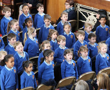 Pre-Prep School Pupils Singing at Easter Service 2017
