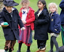 Pre-Prep School Pirates Walking the Plank