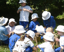 Forest School activity in the Pre-Prep
