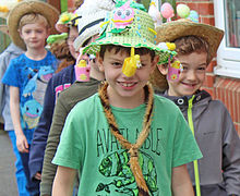 Fun with Bonnets in Pre-Prep School Easter Bonnet Parade