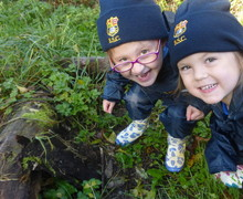 Forest School pupils enjoying the outdoors