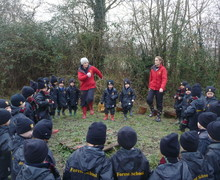 Forest School pupils outdoors in winter