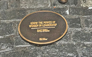 Women in leadership plaque
