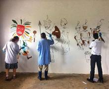 Painting Classrooms on Malawi Expedition 2017