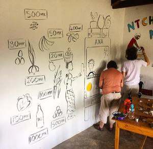 Decorating Classrooms on Malawi Expedition 2017