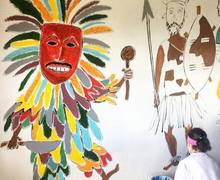 Classroom Walls Painted on Malawi Expedition 2017