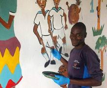 Painting Walls on Malawi Expedition 2017