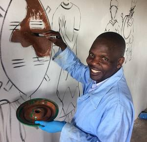 Drawing on Classroom Wall Malawi Expedition 2017