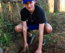 Sixth Form Student in Forest on Malawi Expedition 2017