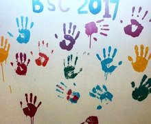 BSC on Classroom Wall Malawi Expedition 2017