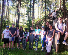 Sixth Form Students in Forest on Malawi Expedition 2017