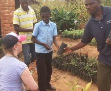 Planting on Malawi Expedition 2017