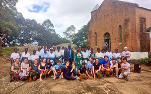 Malawi 2017 Students with Chiyanjano Choir at Mlanda CCAP Church