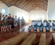 Singing for Chiyanjano Choirat Mlanda CCAP Church Malawi Expedition 2017