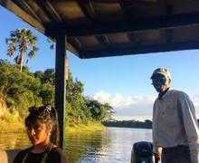 Boat Ride on Malawi 2017 Expedition