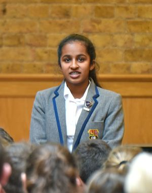 Prep School Pupil in L3 & U3 Poetry Declamation Competition
