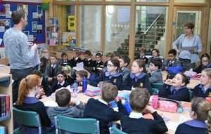 Prep School Pupils in Book Club with Julian Sedgwick