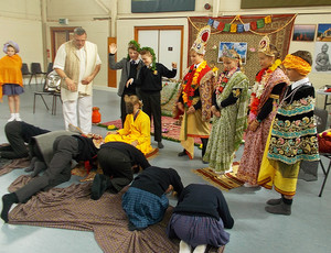 Bowing Pupils at Form 2 Buddhist Workshop