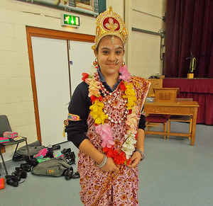 Girl Dressed Up for Form 2 Buddhist Workshop