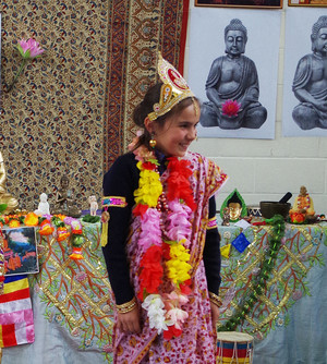 Form 2 Pupil Enjoying Buddhist Workshop