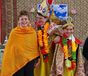 Pupils Dressed up for Form 2 Buddhist Workshop